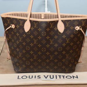 Louis Vuitton Neverfull Mm Leather Tote